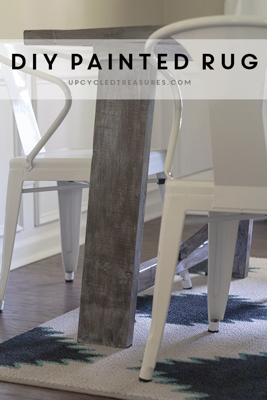 DIY-painted-rug-upcycledtreasures