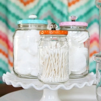 DIY Upcycled Bathroom Jars