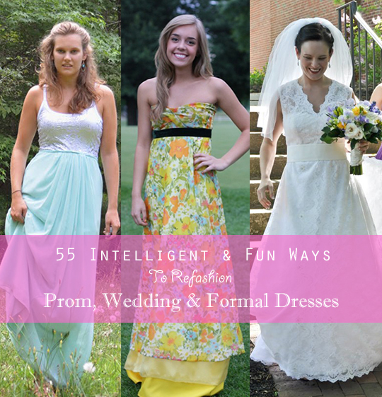 Amy s refashioned gown round up refashion nation for Thrift store wedding dress