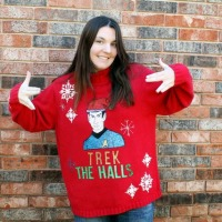 Katie's Freaking Awesome DIY Star Trek Christmas Sweater!