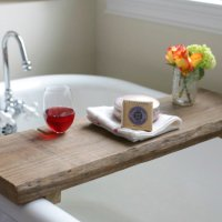Tim & Mary's DIY Rustic Bath Caddy