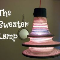 Tarun's Upcycled Sweater Lamp