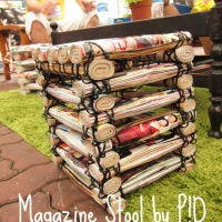 Agy's Awesome Upcycled Magazine Stool