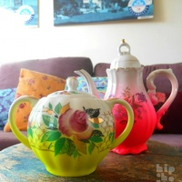 Anuschka's Upcycled Ombre Tableware