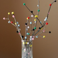 Nick & Sarah's Adorable DIY PomPom Tree