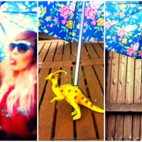 Dolly's DIY Dino Umbrella