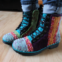 Ann's Amazing Crochet Embellished Boots