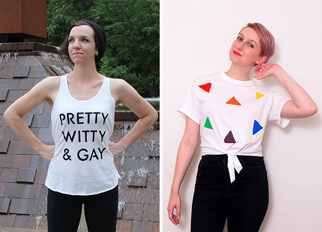 DIY gay pride tees