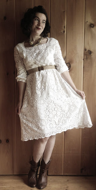 Refashioning old dresses with lace