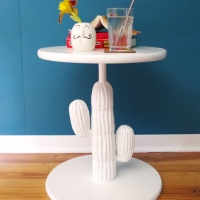 Naomi & Sage's #Upcycled Cactus Table