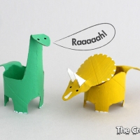 Kate's #Upcycled Loo Roll Dinosaurs