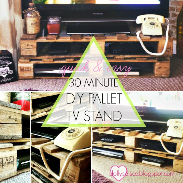 QUICK EASY make your own DIY tv stand entertainment center using a pallet