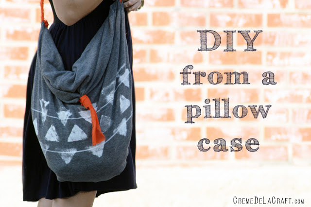 DIY How To Project Pillow Case Bag Upcycle