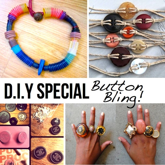 DIY upcycled button projects