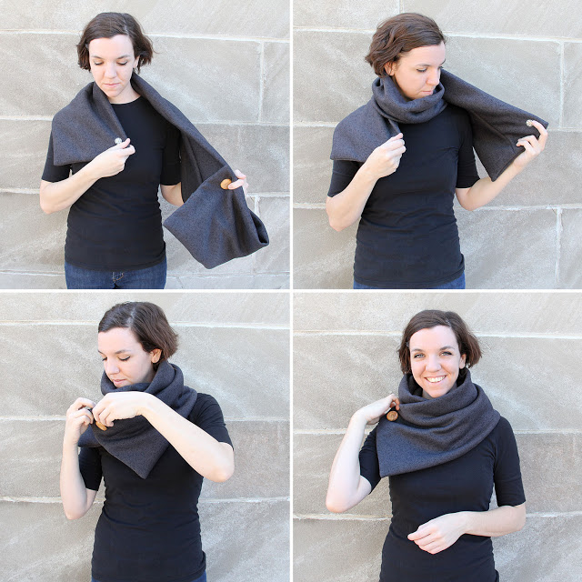 upcycled diy cowl scarf