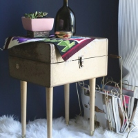 Brooke's #Upcycled Vintage Toolbox Table #DIY