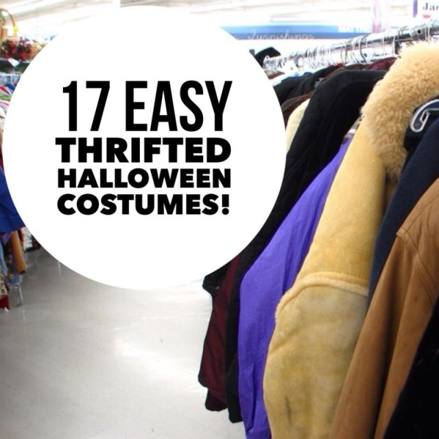 17 easy thrifted halloween costumes