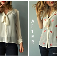 Ina's #DIY Stamped Blouse #Refashion