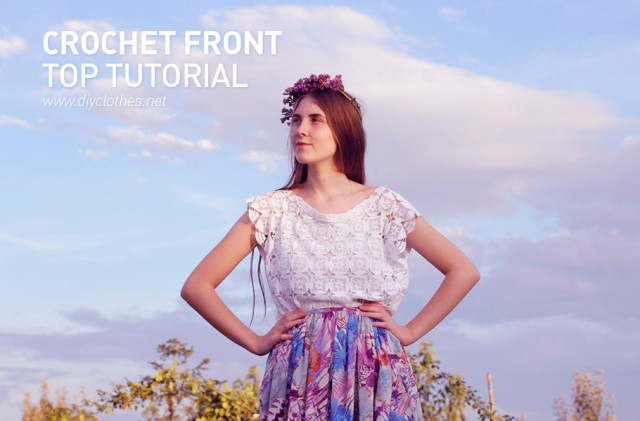 diy crochet top refashion tutorial