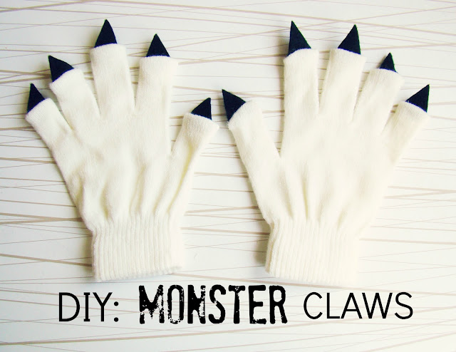 DIY Monster Claw gloves