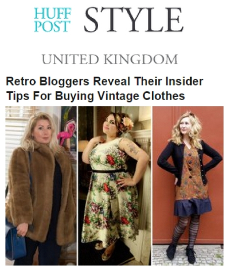 HuffPo Vintage tips feature
