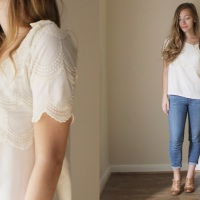 Lindsey's 2 in 1 blouse #refashion