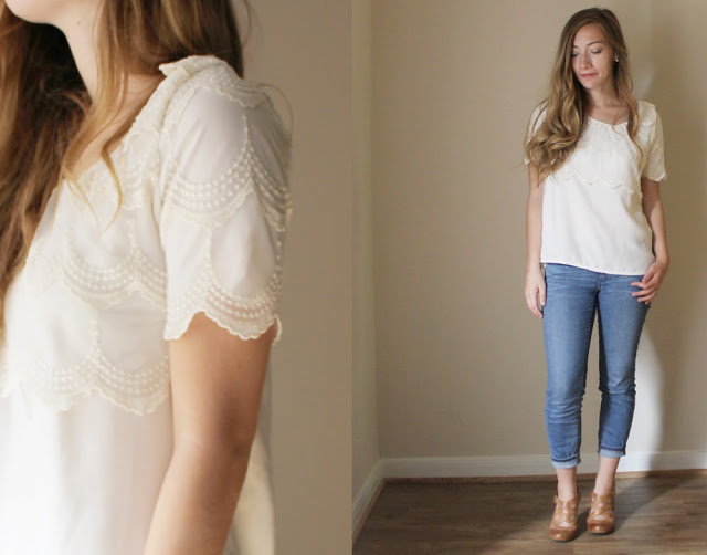 Refashion Lace Scallop Shirt 2