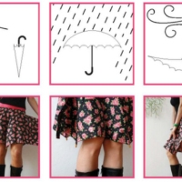 Cecilia's #recycled umbrella skirt