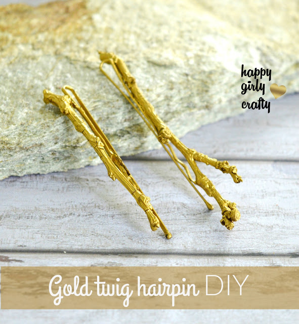 upcycled twig hairpins tutorial