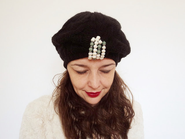 bead embellished hat tutorial