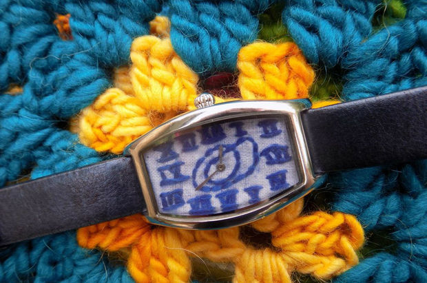 diy embroidered watch