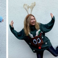 My #DIY (not so ugly) #Upcycled Xmas Sweaters