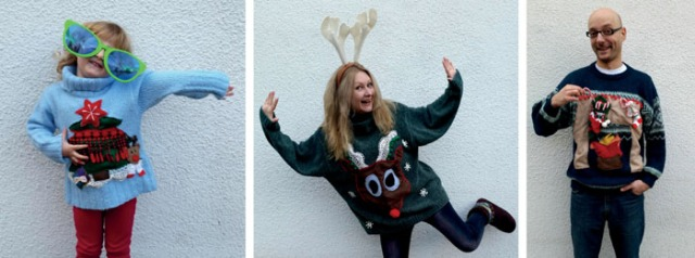 diy upcycled ugly xmas sweaters