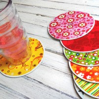 Amanda's #Recycled CD Coasters