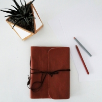 Ama's #DIY Leather Notebook Cover