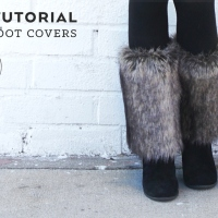 Beth's Easy #DIY Faux Fur Boot Covers