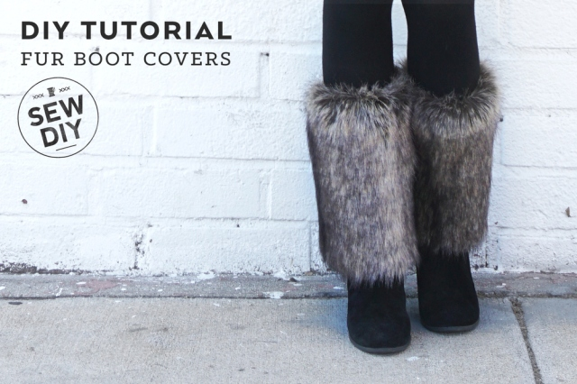 DIY Tutorial Fur boot Covers