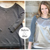 Lisa's #Upcycled Sweatshirt #Refashion