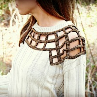 Laura's Peekaboo  Sweater #Refashioned