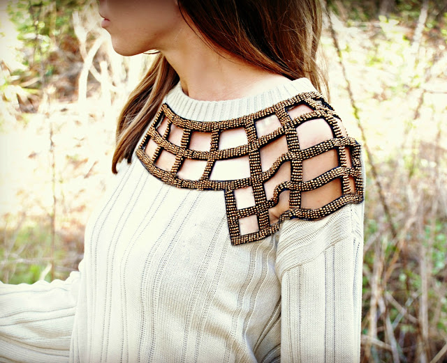 refashioned embellished sweater diy
