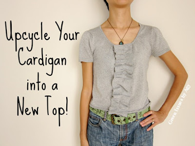 upcycled cardigan refashion tutorial