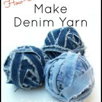 Annette's Easy #Upcycled #DIY Denim Yarn