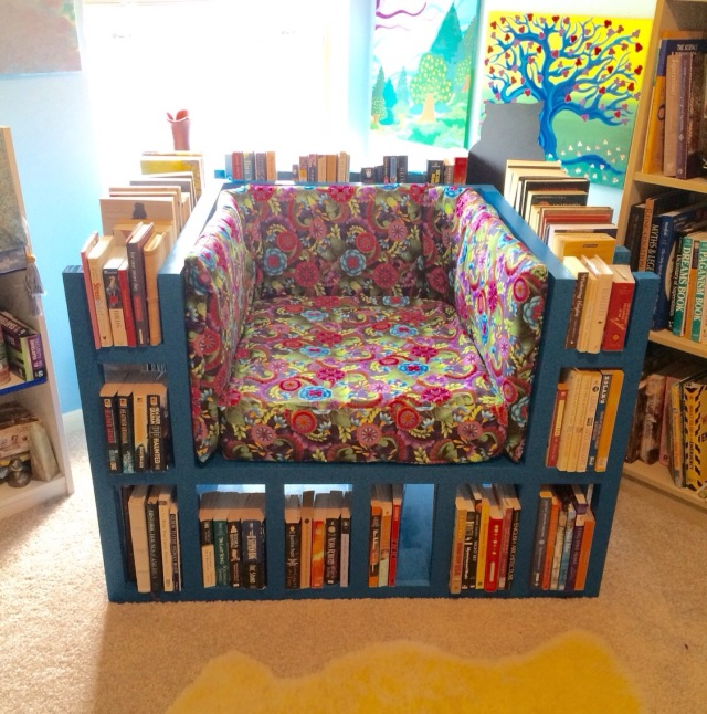 diy bookshelf chair tutorial