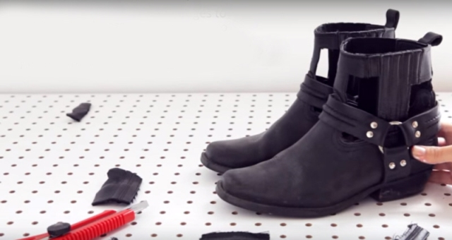DIY no sew cut out boots tutorial