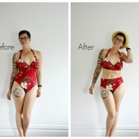 Korrine's #NoSew High Waisted Bikini #DIY