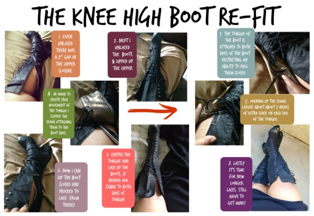 diy upsized boot refashion tutorial