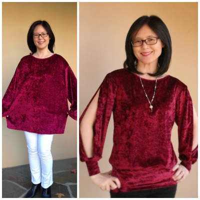 split sleeve refashioned blouse tutorial