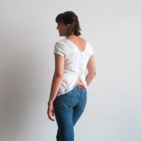 Ama's #DIY Open Back Shirt #Refashion
