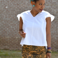 Troy's gorgeous #DIY Pencil Skirt