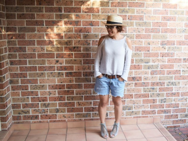 diy cold shoulder top
